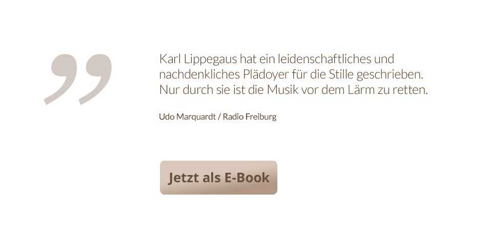 Die Stille im Kopf - Jetzt als E-Book!